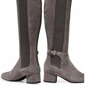 Cole Haan Grey Suede Avani Stretch Long Boots